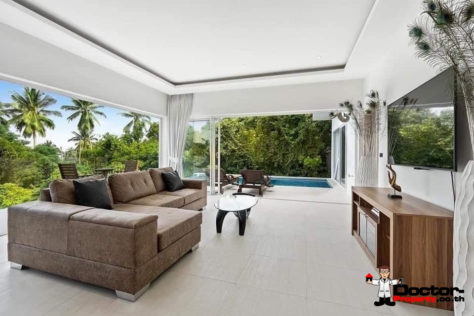 New Furnished 2 Bed Pool villa with, Seaview – Hua Thanon, Koh Samui – For Sale