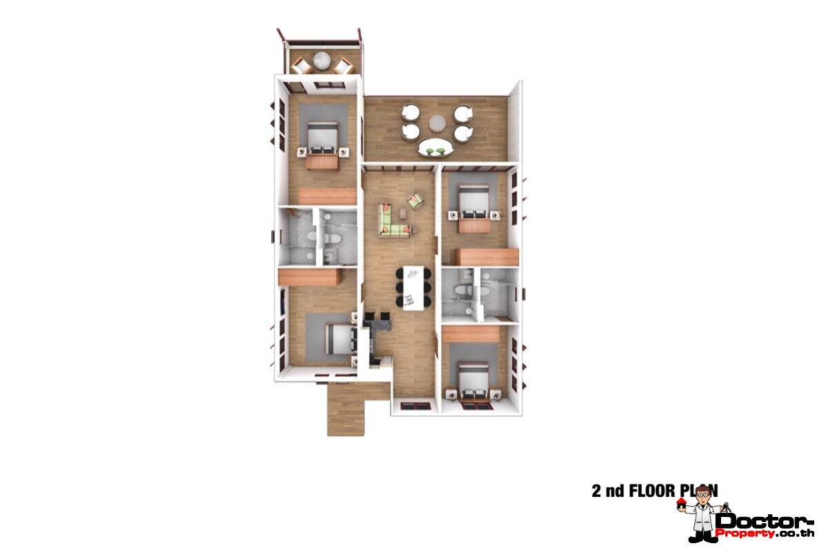 Sea View 12 Bedroom Apartment Building – Bang Rak – Koh Samui – for sale_2nd_Floor