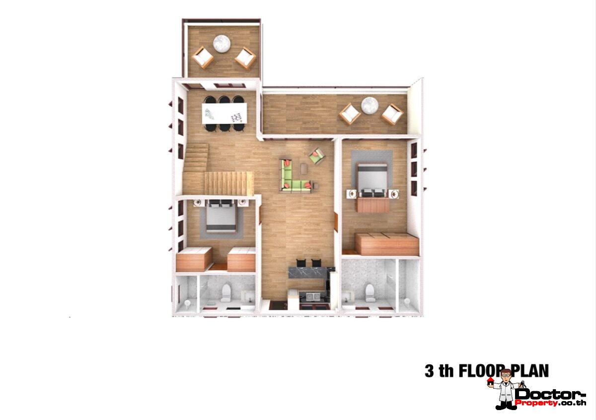 Sea View 12 Bedroom Apartment Building – Bang Rak – Koh Samui – for sale_3th_Floor