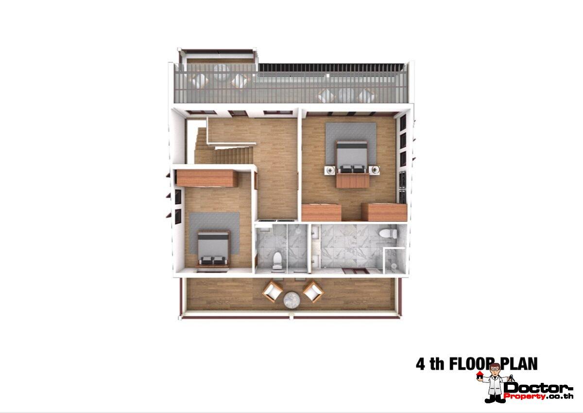 Sea View 12 Bedroom Apartment Building – Bang Rak – Koh Samui – for sale_4th_Floor