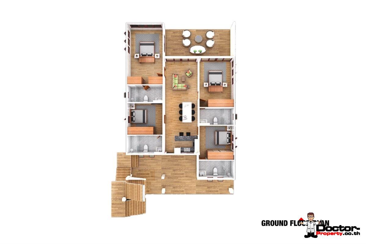 Sea View 12 Bedroom Apartment Building – Bang Rak – Koh Samui – for sale_Ground_Floor