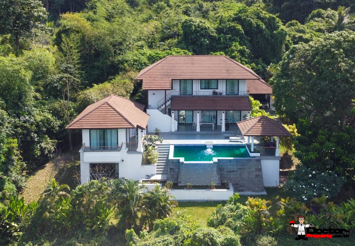 3 Bedroom Pool Villa with Sea view – Mae Nam, Koh Samui – For Sale