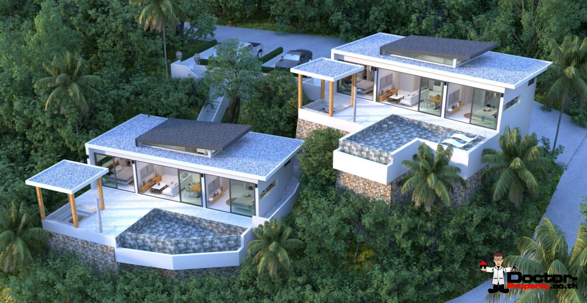 New Furnished Sea View Villas in Mae Nam Hills, Koh Samui – For Sale