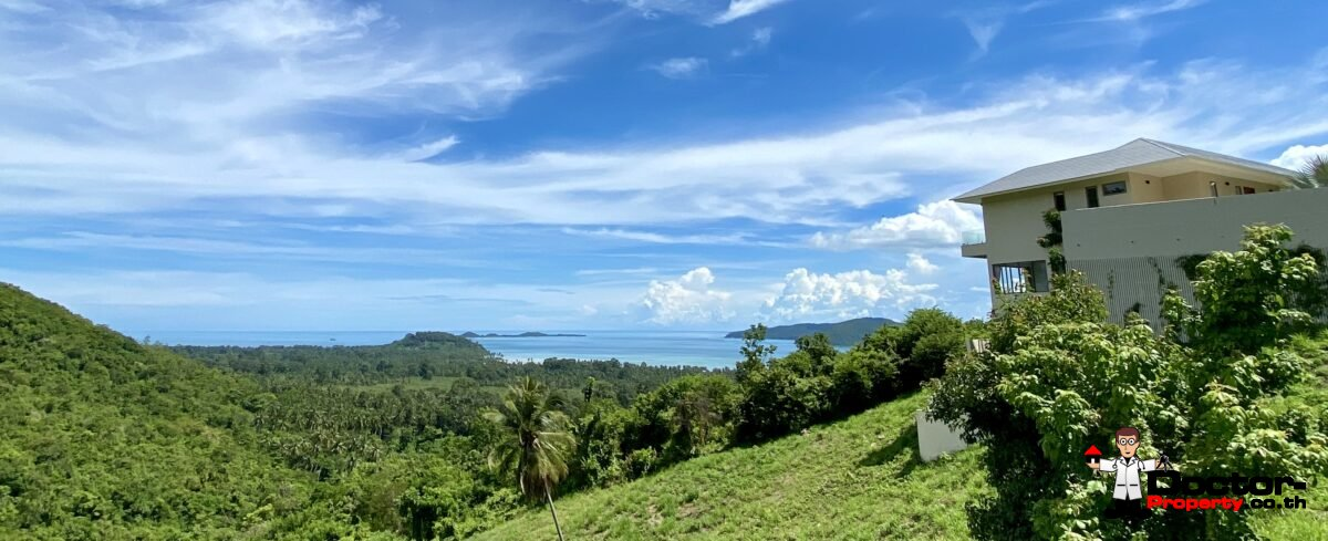 3 Bed Pool Villa with Sea View – Taling Ngam, Koh Samui – For Sale