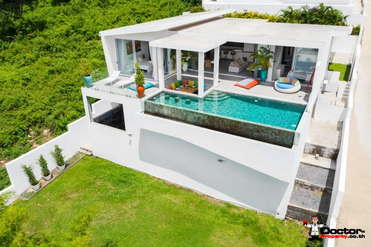 New 3 Bedroom Villa with Sea View – Bophut, Koh Samui – For Sale