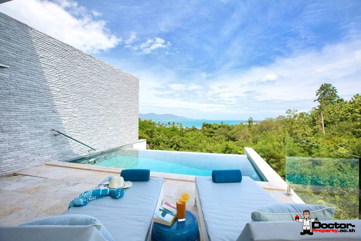 4 Bed Excellent Sea View Pool Villa – Plai Leam, Samui – For Sale