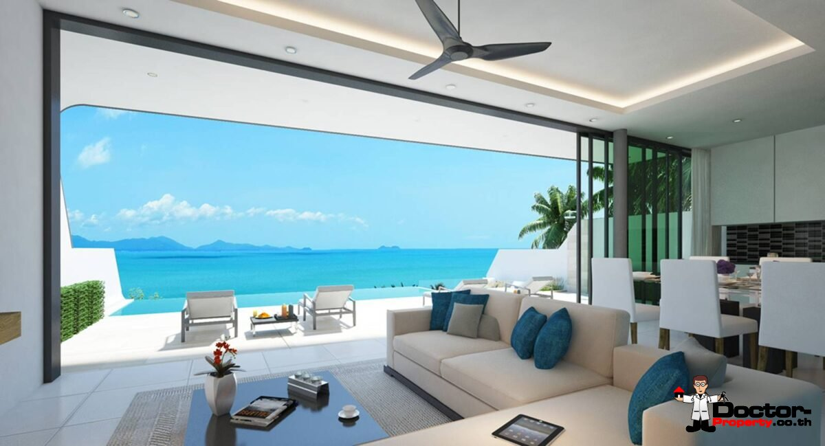 New 3 Bedroom Seaview Villa – Bophut, Samui – For Sale