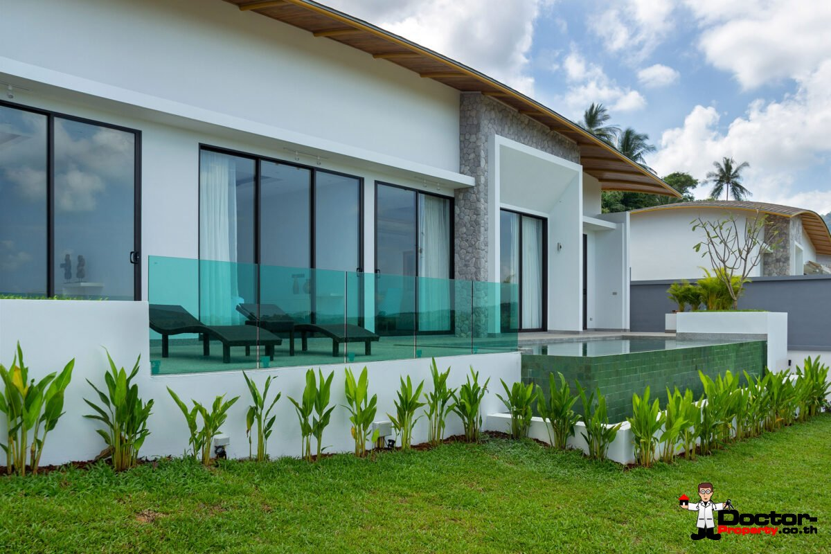 Finish 3 Bedroom Sea View Villa - Mae Nam - Koh Samui - for sale