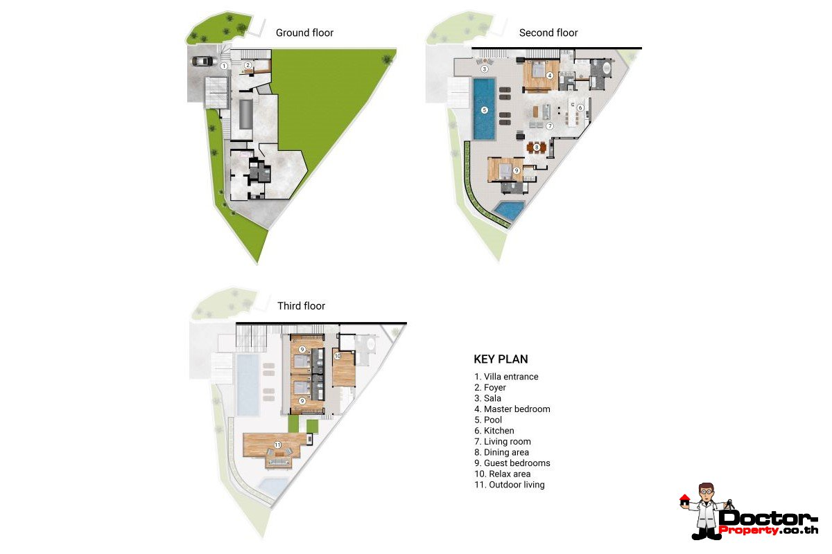 4 Bedroom Ultra Luxury Sea View Villa - Surin Beach - Phuket - for sale