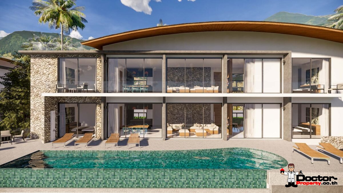 New 6 Bedroom Villa with Sea View - Mae Nam - Koh Samui - for sale