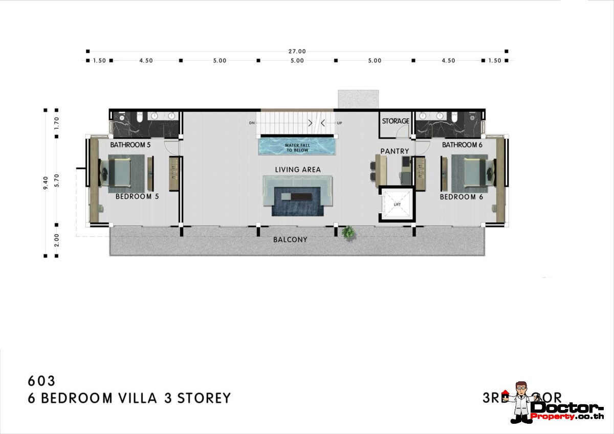 New 6 Bedroom Villa with Sea View - Mae Nam - Koh Samui - for sale