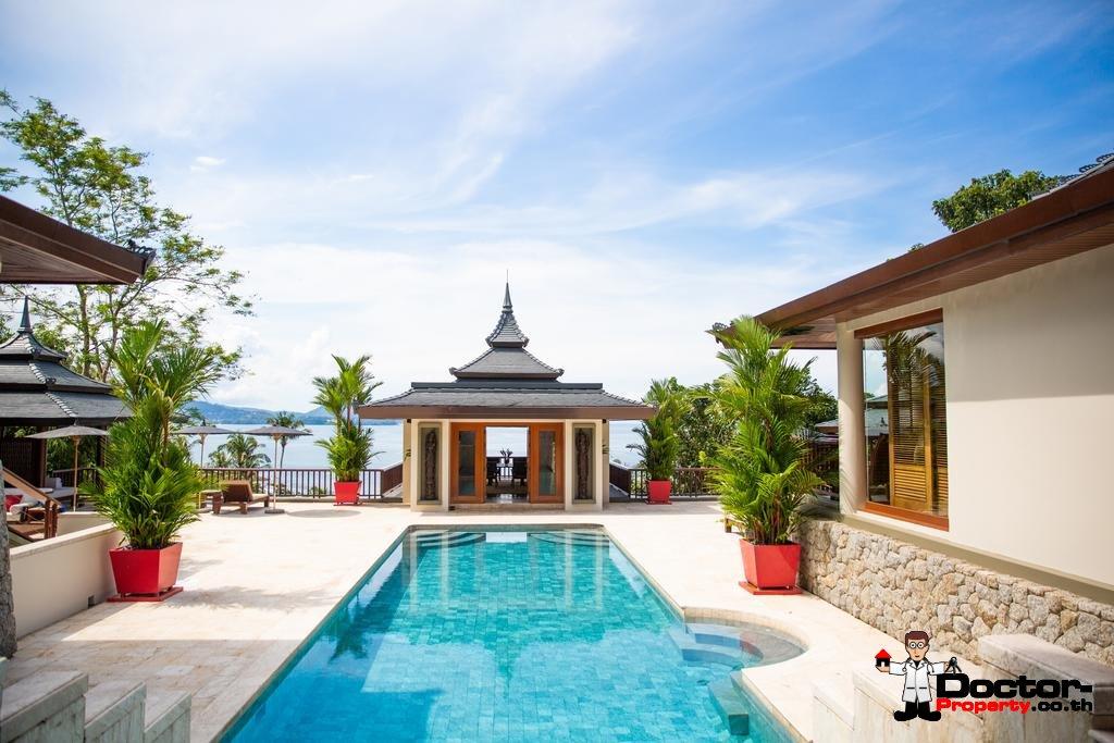 6 Bedroom Unique Ocean Front Pool Trisara Villa - Layan Beach - Phuket - for sale