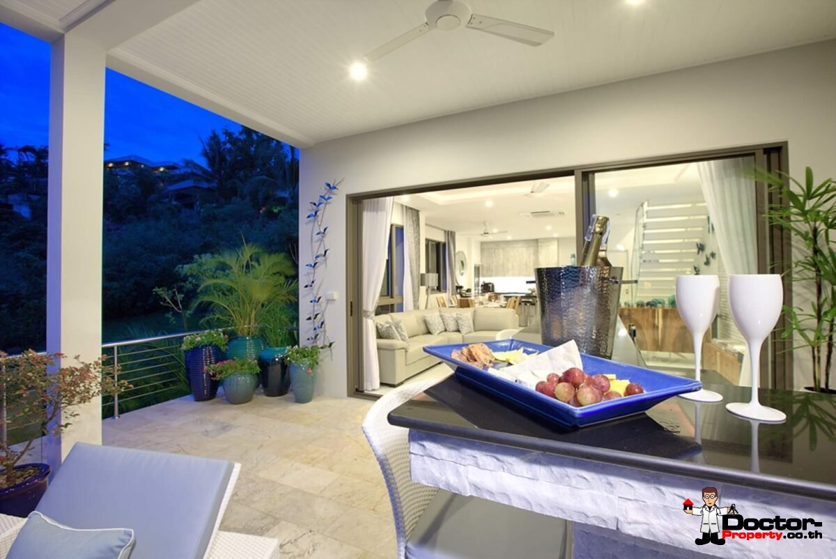 4 Bed Excellent Sea View Pool Villa – Plai Leam, Samui – For Sale