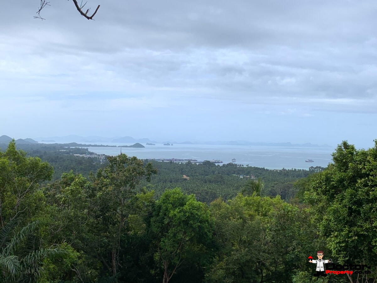 Nearly 3 Rai Sea View Land – Bang Makham – Koh Samui – for sale