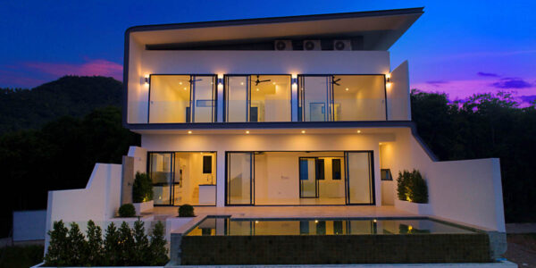 New 3 Bedroom Seaview Villa – Bophut, Samui – For Sale
