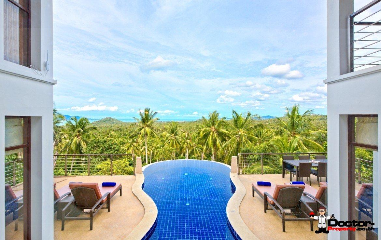 5 Bedroom Sea View Pool Villa – Mae Nam, Koh Samui – For Sale