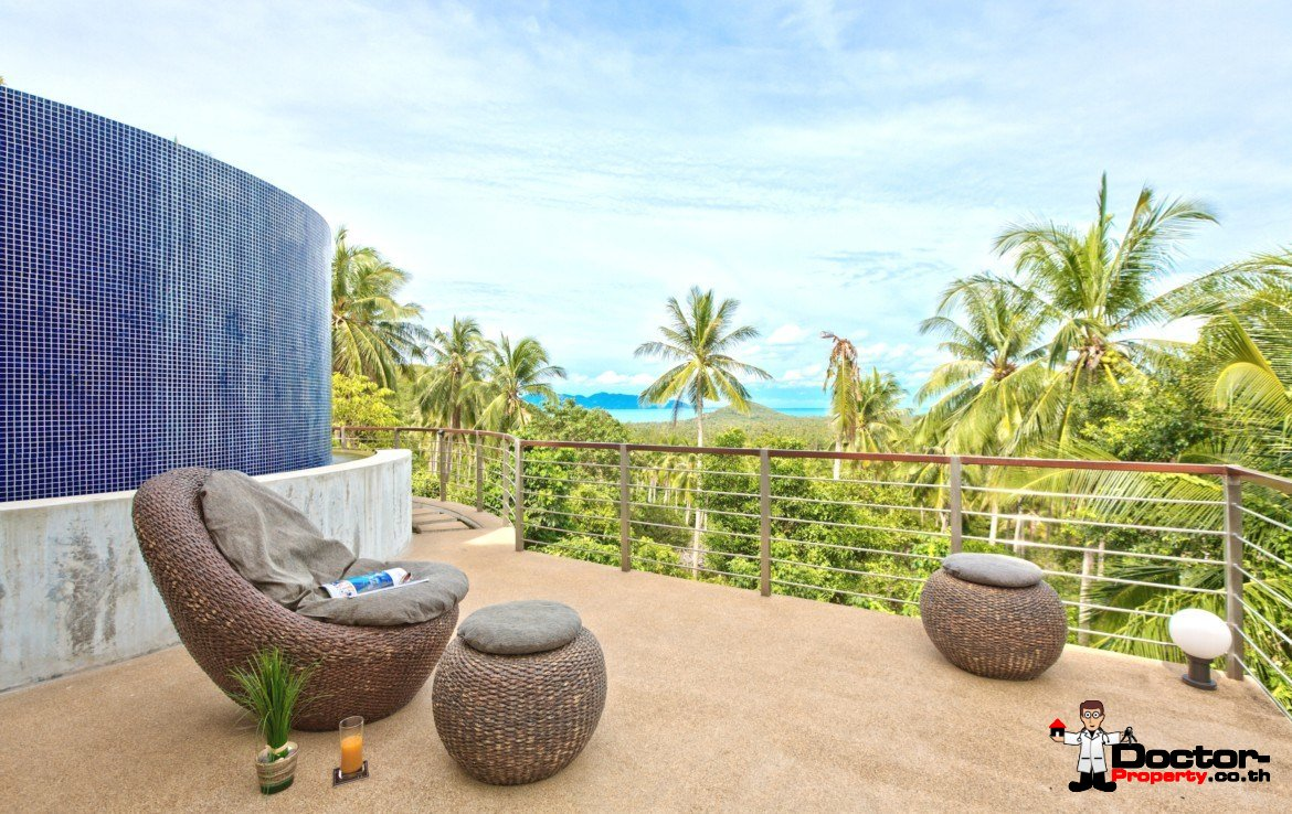 5 Bedroom Sea View Pool Villa – Mae Nam, Koh Samui – For Sale