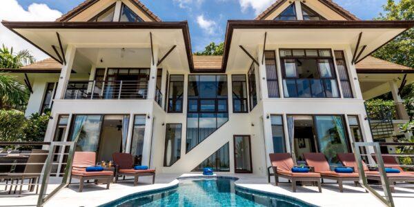 5 Bedroom Sea View Pool Villa – Bang Po, Koh Samui – For Sale