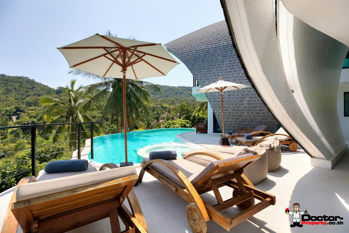 Luxury Villa Complex with 9 Bedrooms and Seaview – Chaweng Noi, Koh Samui – For Sale