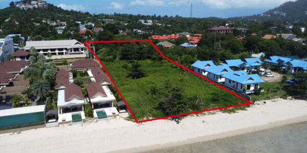 A Beautiful Beachfront Land In Prime Area of Plai Laem, Koh samui – For Sale