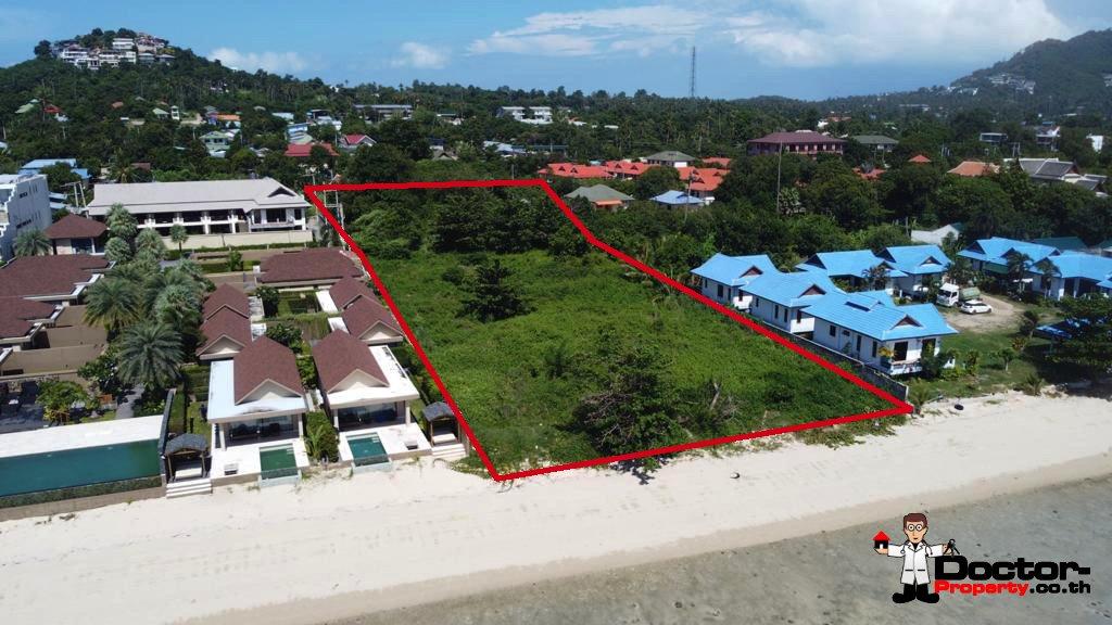 A Beautiful Beachfront Land In Prime Area of Plai Laem, Koh samui – For Sale