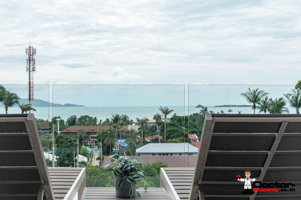 3 Bed Sea View Villa – Near Fisherman's Village, Koh Samui – For Sale