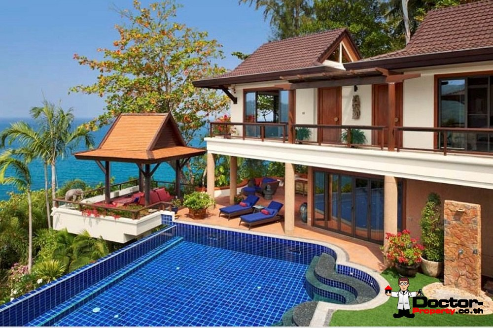 4 Bedroom Ocean Front Pool Villa - Kata Beach - Phuket South - for sale