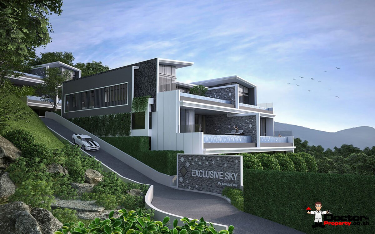 4 Bedroom Sea View Condo - The Exclusive Sky - Kamala Beach - Phuket West - for sale
