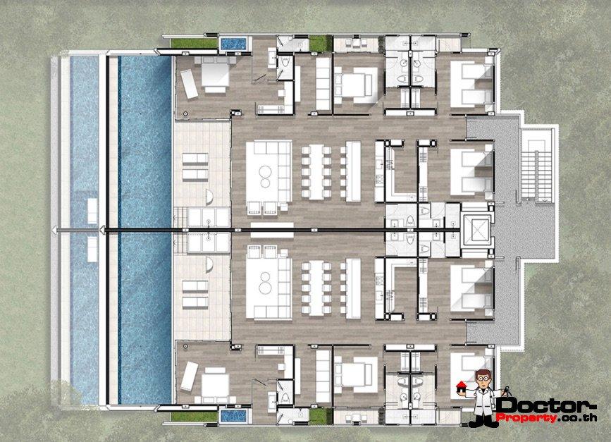 4 Bedroom Sea View Condo - The Exclusive Sky - Kamala Beach - Phuket West - for sale
