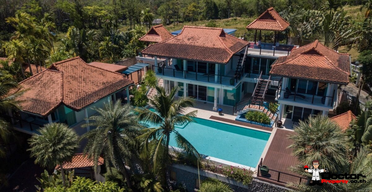 5 Bedroom Sea View Villa - Paradise Heights Yamu - Cape Yamu - Phuket East - for sale