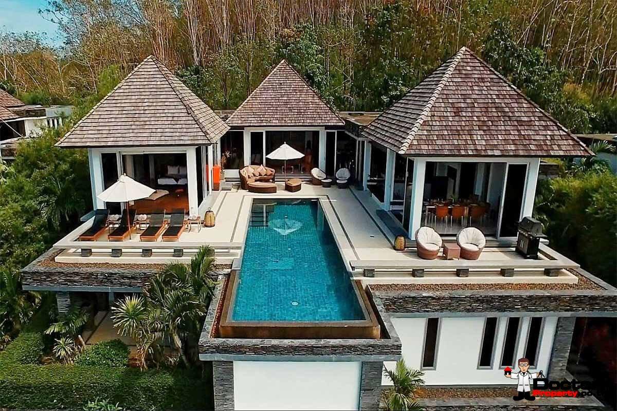 5 Bedroom Villa Bauhinia - Fantastic Sea View - Layan Beach - Phuket West - for sale