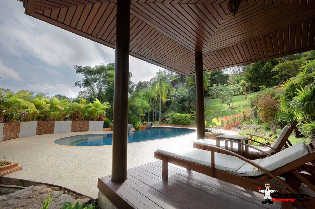7 Bedroom Thai Style Sea View Pool Villa - Layan Beach - Phuket West - for sale