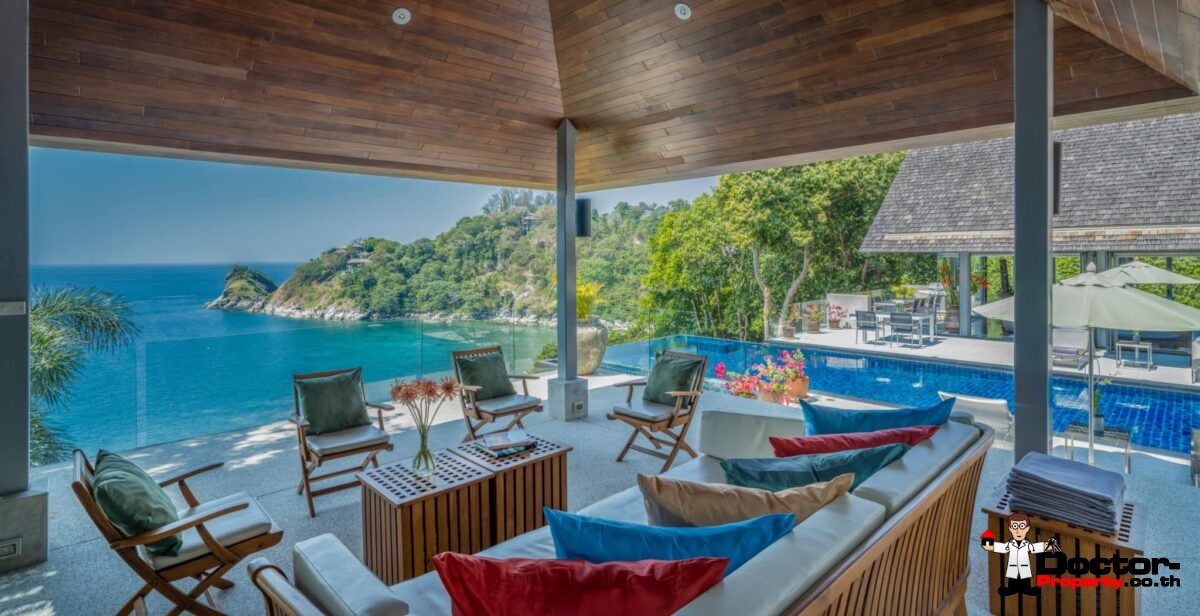 Breathtaking Ocean Front 5 Bedroom Villa - Samsara - Kamala Beach – Phuket West – for sale