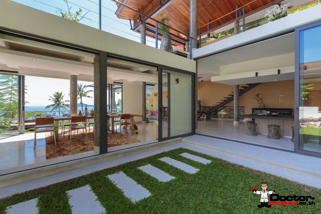 Fantastic 3 Bedroom Sea View Villa - Laem Set - Koh Samui - for sale
