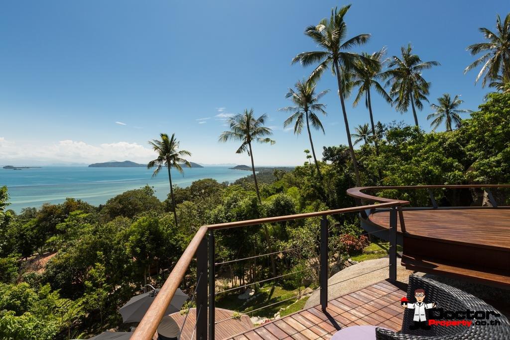 Fantastic 3 Bedroom Sea View Villa - Laem Set - Koh Samui - for sale