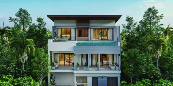 3 Bed Sea View Villa – Near Fisherman's Village, Koh Samui – For Sale