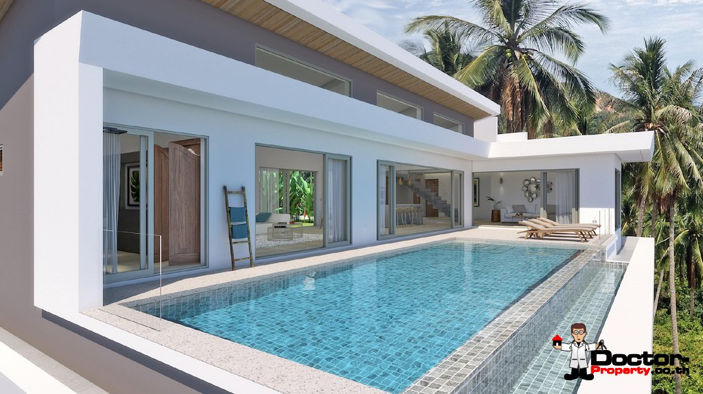 New 4 Bedroom Ocean View Pool Villa - Chaweng Noi - Koh Samui - for sale