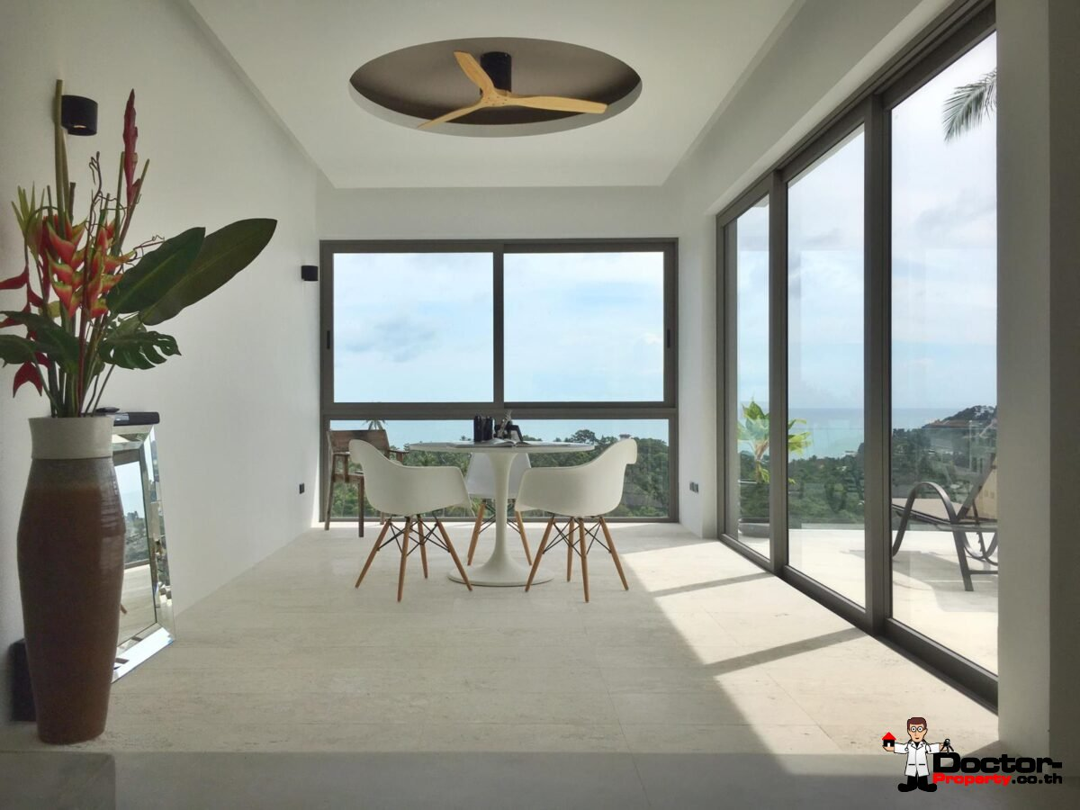 New 4 Bedroom Ocean View Pool Villa - Chaweng Noi, Koh Samui - For Sale