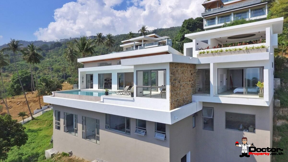 New 4 Bedroom Ocean View Pool Villa – Chaweng Noi, Koh Samui – For Sale