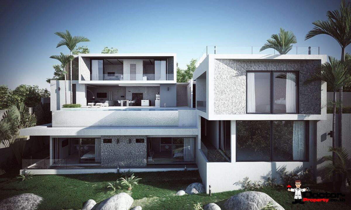 New 6 Bedroom Sea View Pool Villa - Kamala Beach - Phuket West - for sale