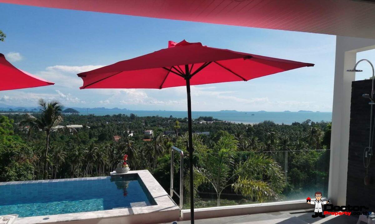 3 Bedroom Sea View Villa - Nathon - Koh Samui - for sale