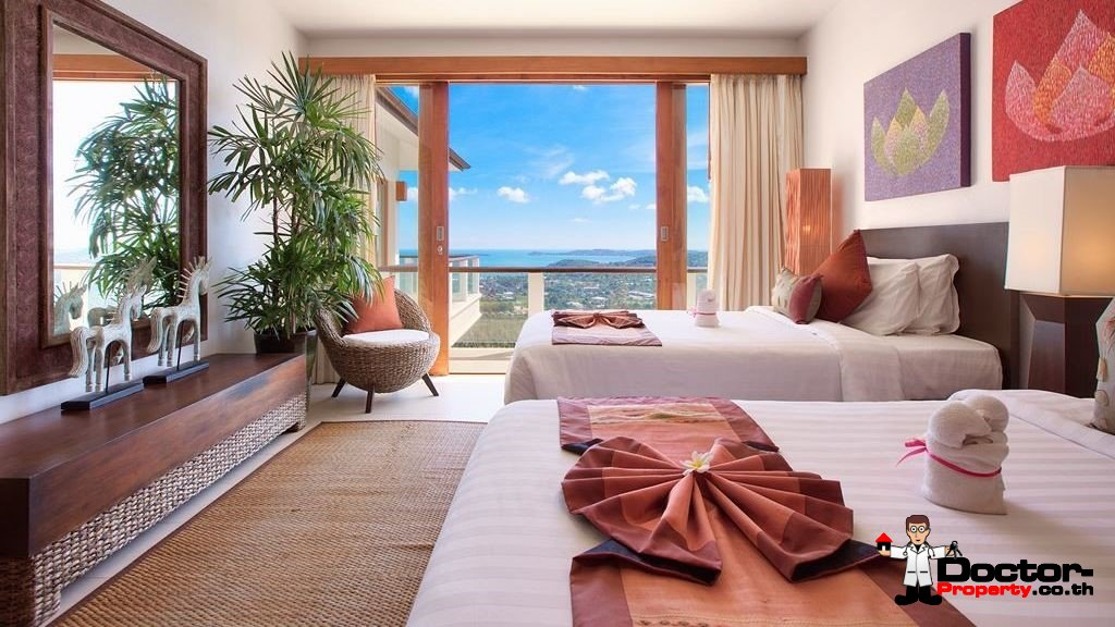 Fantastic 4 Bedroom Sea View Villa - Bophut - Koh Samui - for sale