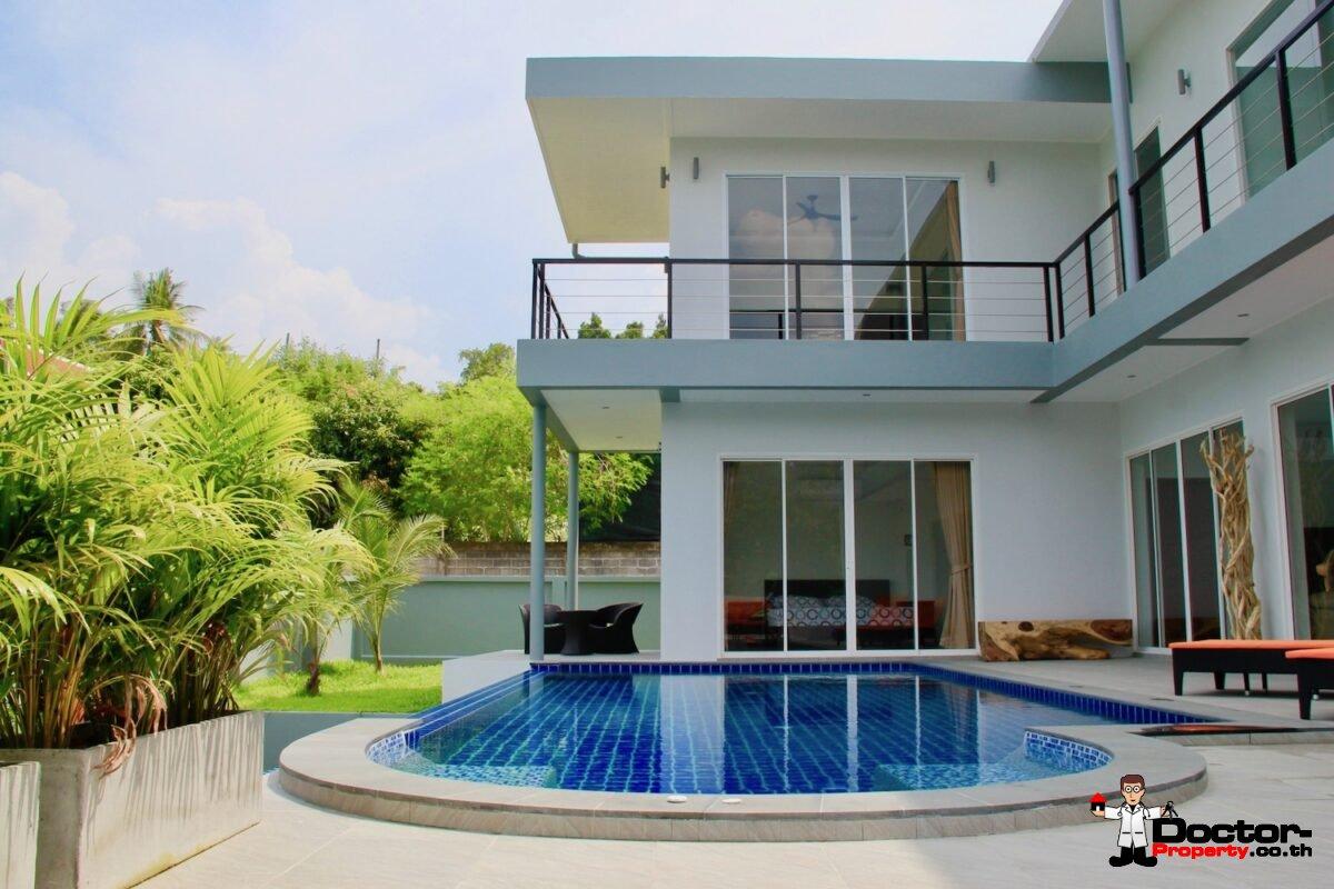 5 Bedroom Sea View Villa - Bang Rak - Koh Samui - for sale