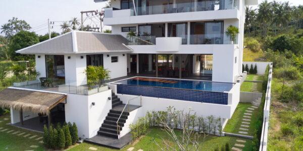 7 Bedroom Sea View Villa - Bang Rak - Koh Samui - for sale