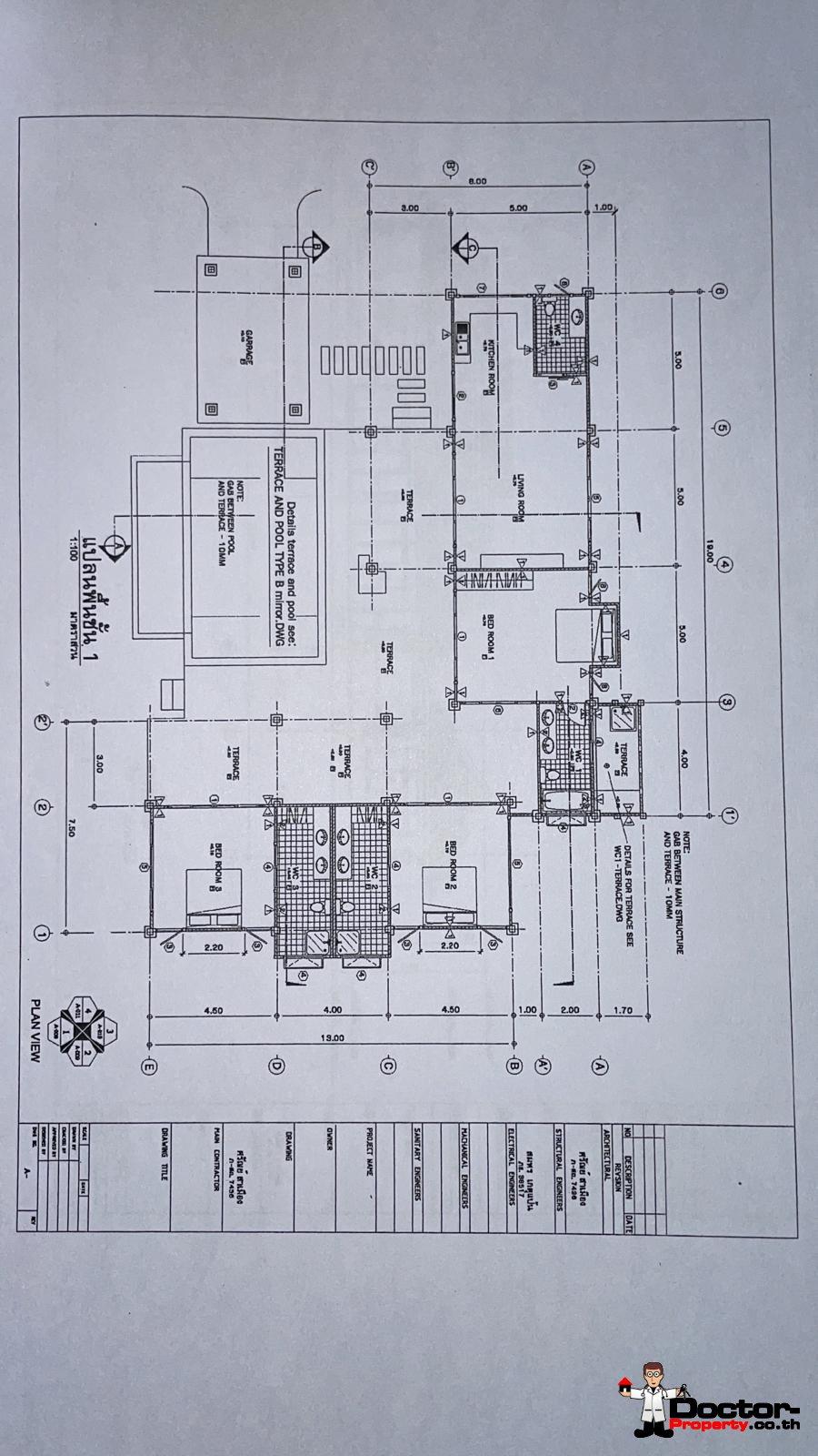 3 Bedroom Garden Pool Villa – Bophut – Koh Samui – for sale