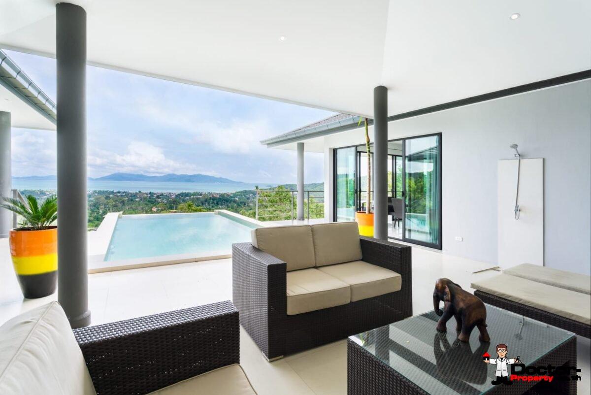3 Bedroom Sea View Villa – Bophut – Koh Samui – for sale