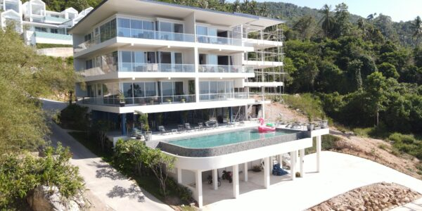 New 2 Bedroom Apartment with Sea View – Bang Por,  Koh Samui – For Sale