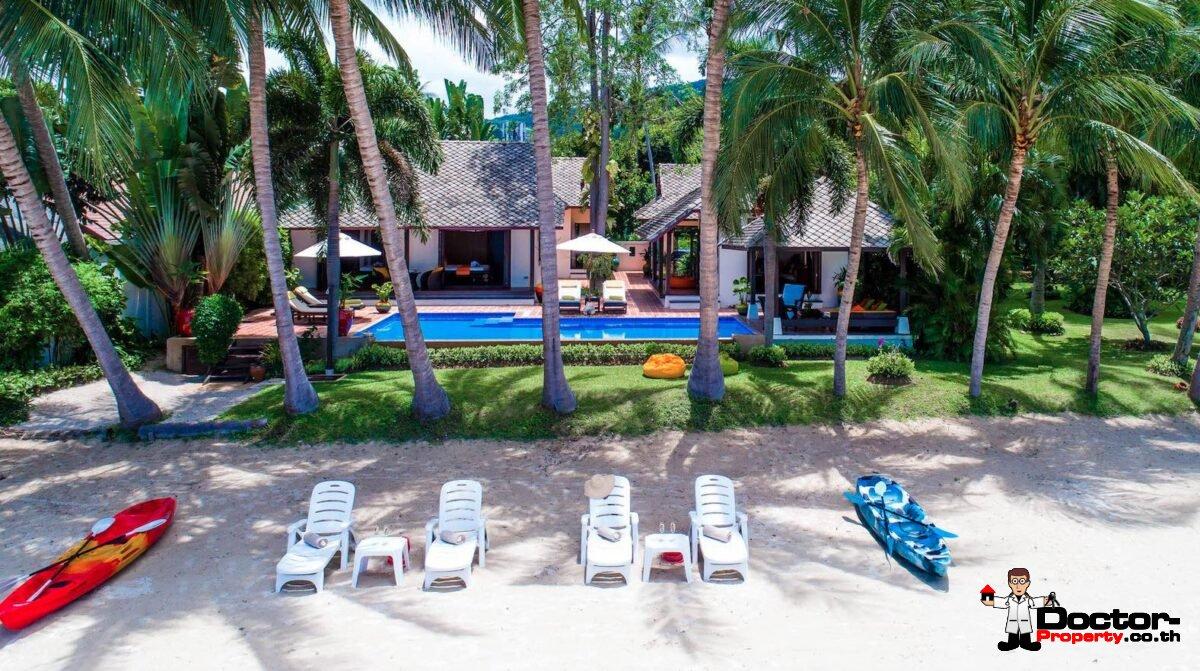 Fantastic 4 Bedroom Beachfront Villa - Laem Sor - Koh Samui - for sale
