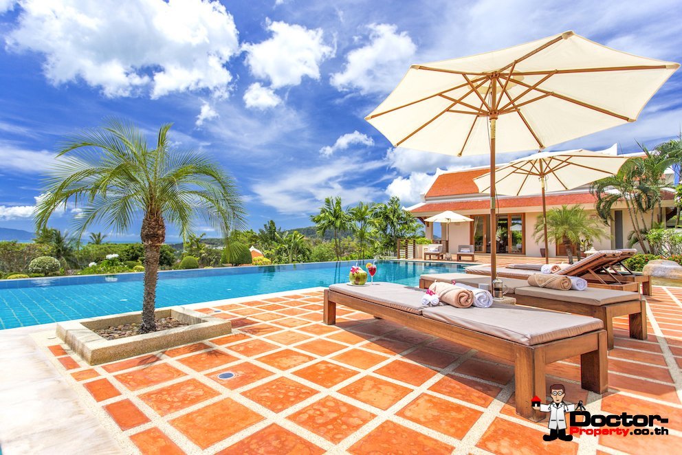 Palatial Thai Estate with Magnificent Sea views – Bo Phut, Koh Samui – For Sale