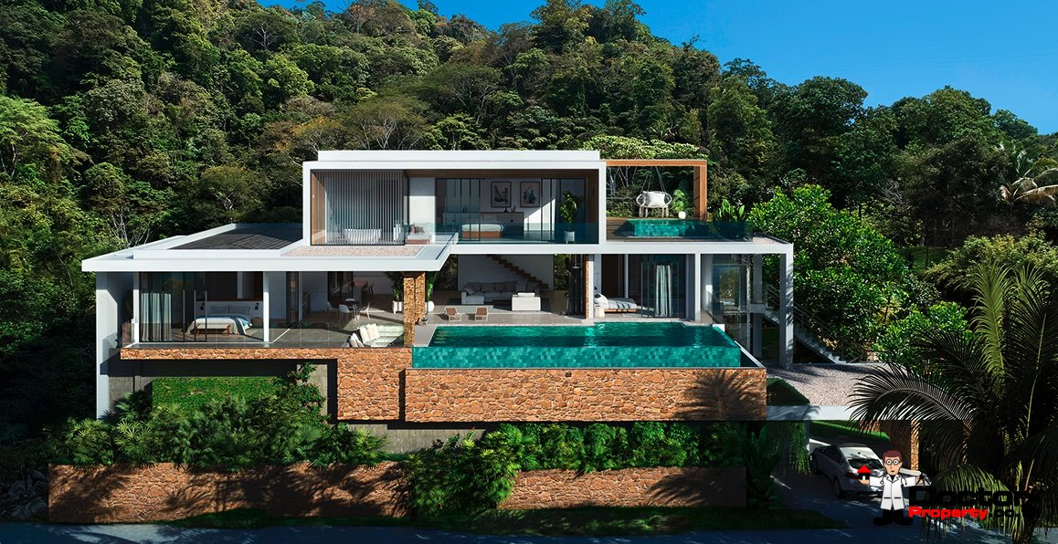 New 4 Bedroom Villa with spectacular Sea Views - Chaweng Noi - Koh Samui - for sale